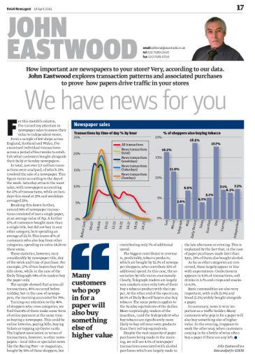 John Eastwood column