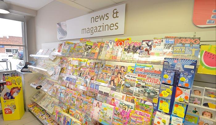 Magazines display
