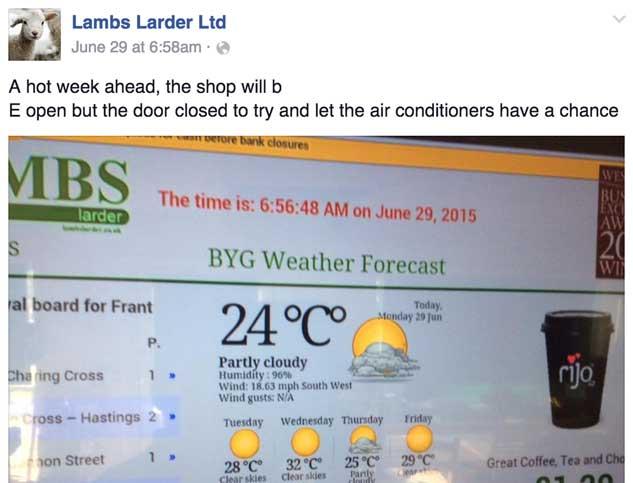 lambs larder facebook