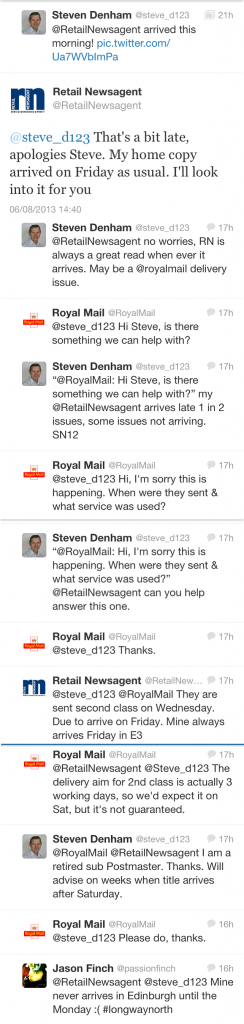 Twitter Royal Mail