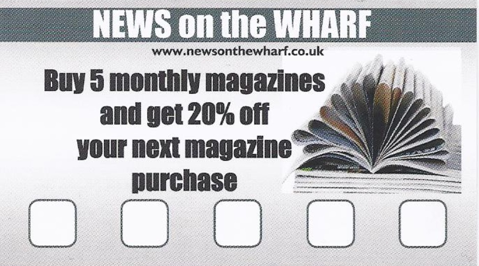 News on the Wharf loyalty card front
