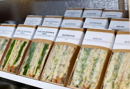 A chiller loaded with freshly made sandwiches...For more images from this series click on the banner below...