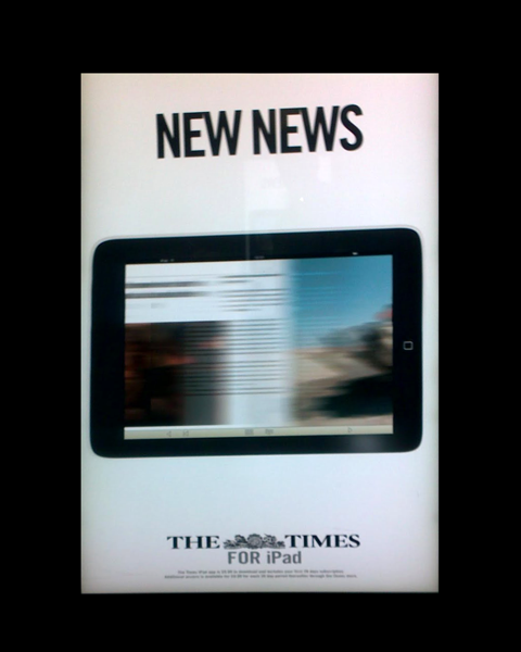Advert for The Times iPad app