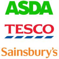 Asda, Tesco, Sainsburys, logo