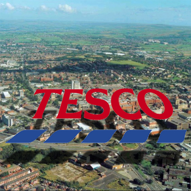 tesco, town, floating, express