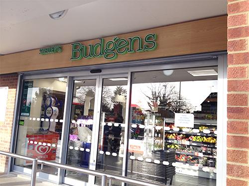 Shelley's Budgens Horsham shopfront