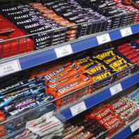 Cadbury, confectionery, shelf, display, shelving
