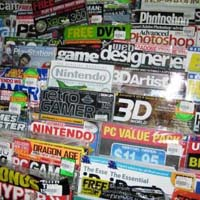 magazines, news, display
