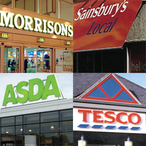 tesco, asda, sainsburys, morrisons, high street, independent, multiples, waitrose