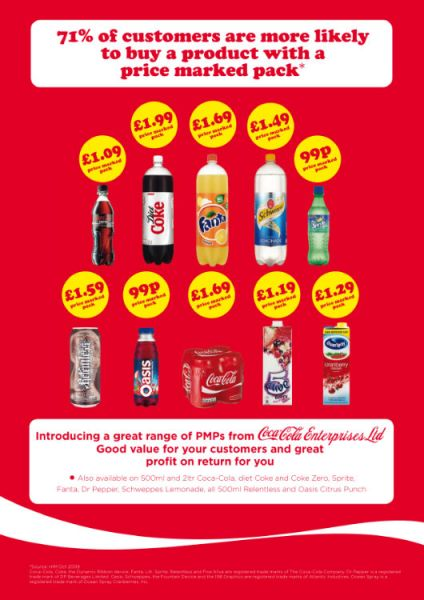 Coca-Cola Enterprises advert from Retail Newsagent