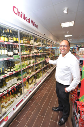 Yogi has grown his chilled beer and wine area from three metres to ten metres in a year