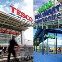 tesco, waitrose, sainsbury's, asda, multiples, local