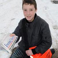 newspaper deliverer, joseph james