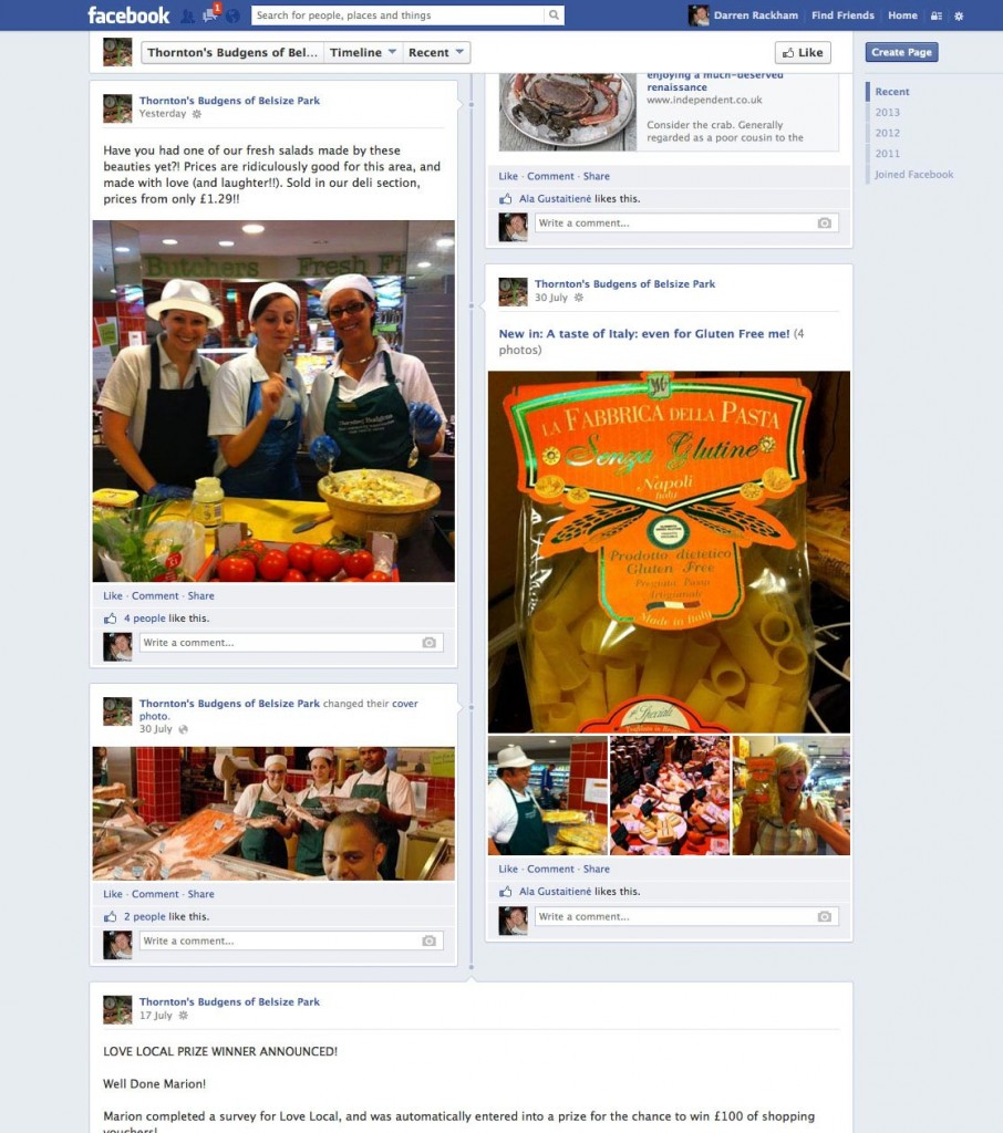 Thornton's facebook page