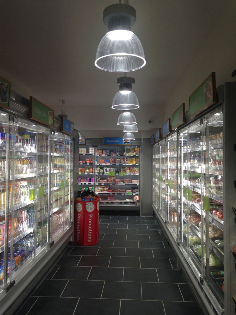 LED lighting in a convenience store