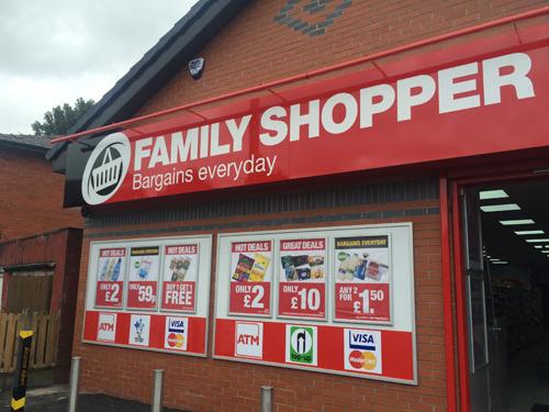 outside family shopper ashton store