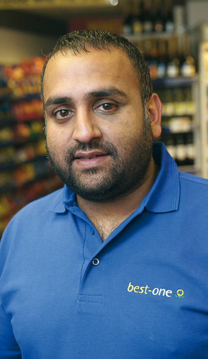 Retailer Parminder Singh uses promotions and merchandising to drive sales